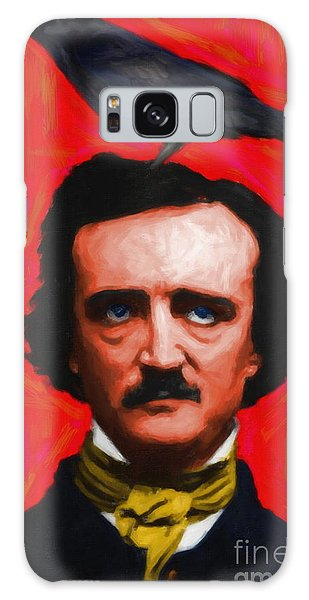 Quoth The Raven Nevermore - Edgar Allan Poe - Painterly - Red - Standard Size Galaxy Case