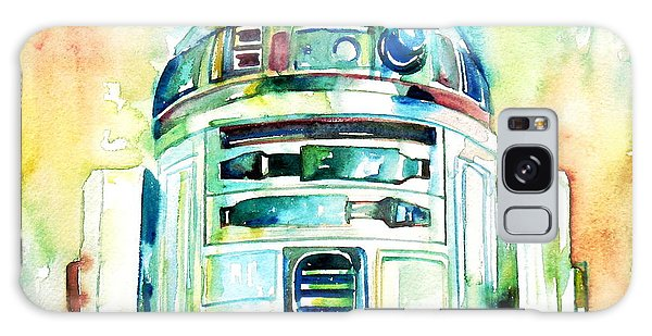 R2-d2 Watercolor Portrait Galaxy Case