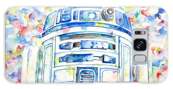 R2-d2 Watercolor Portrait.1 Galaxy Case