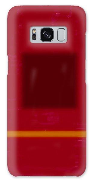 Color Field With Dark Square Galaxy Case