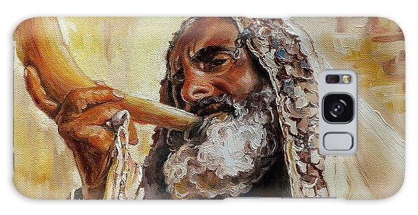 Rabbi Blowing Shofar Galaxy Case