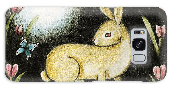 Rabbit And The Butterfly . . . From The Tapestry Series Galaxy Case