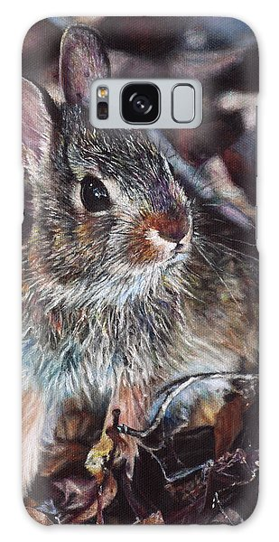 Rabbit In The Woods Galaxy Case by Joshua Martin