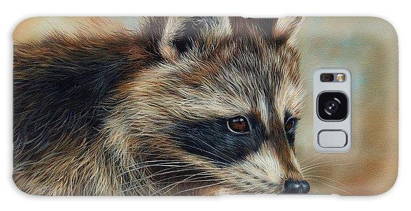 Raccoon Galaxy Case - Raccoon by David Stribbling