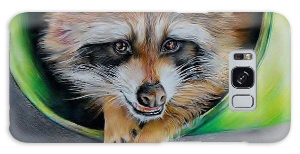Raccoon  Galaxy Case by Jean Cormier
