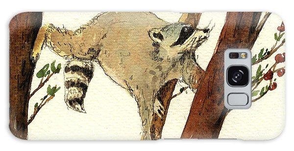 Raccoon Galaxy Case - Raccoon On Tree by Juan  Bosco