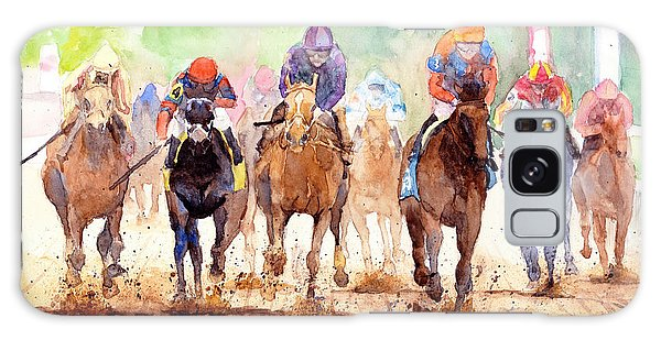 White Horse Galaxy S8 Case - Race Day by Max Good