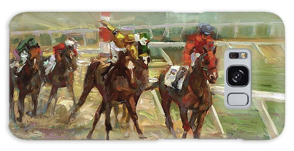 Sport Art Galaxy Case - Race Horses by Laurie Snow Hein