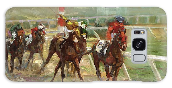 Sport Galaxy Case - Race Horses by Laurie Hein
