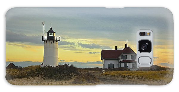 Race Point Lighthouse At Sunset Galaxy Case