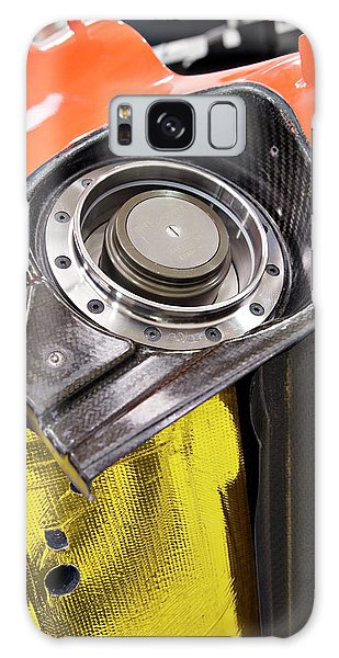 Metal Leaf Galaxy Case - Racing Car Fuel Cap by Gustoimages/science Photo Library