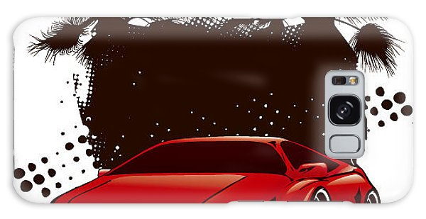 Automobile Galaxy Case - Racing Grunge Shield With Red Sport by Locote
