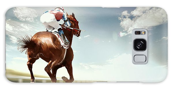 Gamble Galaxy Case - Racing Horse Coming First To Finish by Olga i