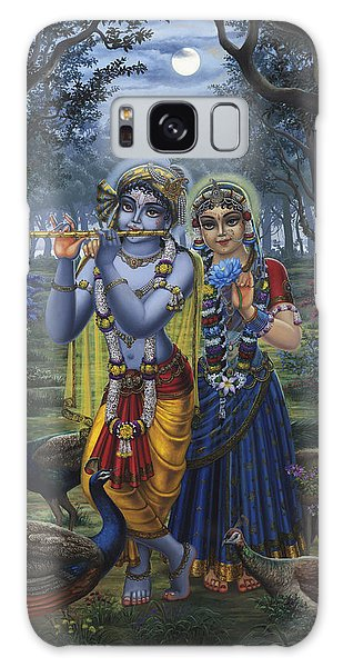 Radha And Krishna On Full Moon Galaxy Case