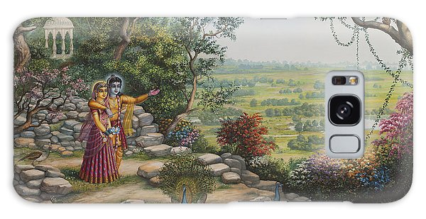 Radha And Krishna On Govardhan Galaxy Case