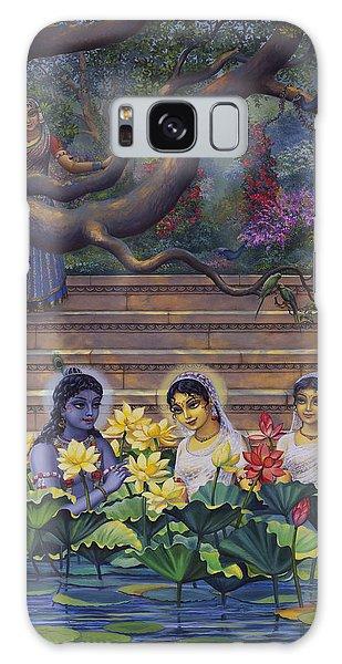 Radha And Krishna Water Pastime Galaxy Case