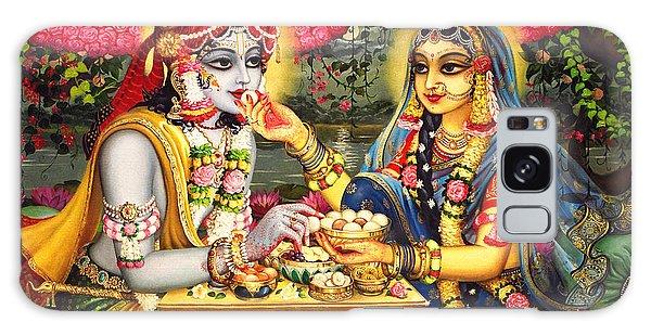Radha Krishna Bhojan Lila On Yamuna Galaxy Case