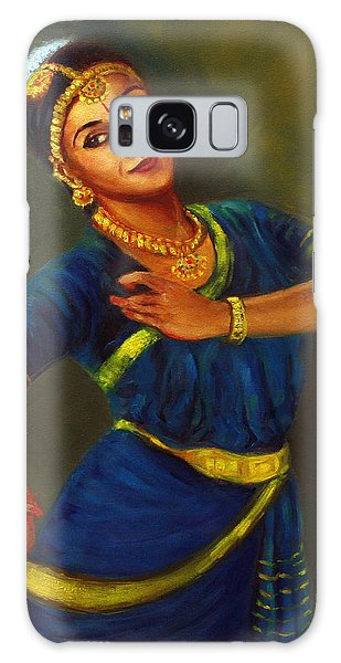 Radha Playing Krishna Galaxy Case