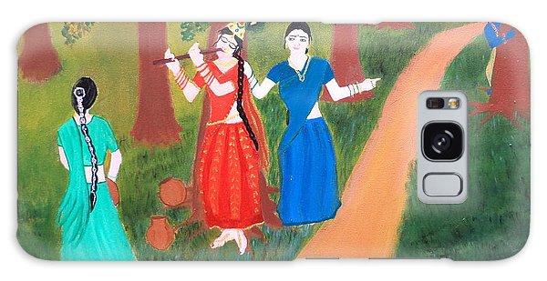 Radha Playing Krishna Galaxy Case