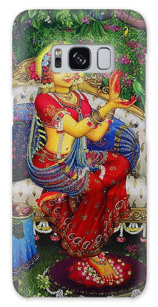 Radha With Parrot Galaxy Case