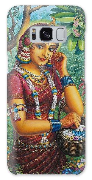 Radharani In Garden Galaxy Case