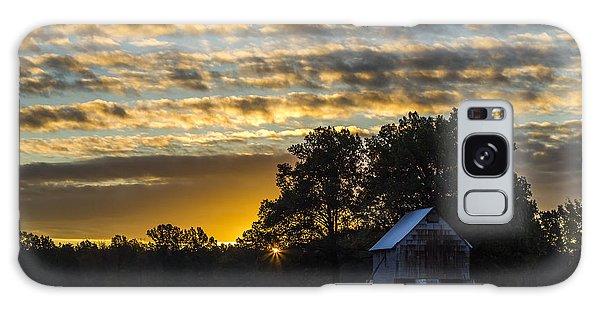 Radiating Sunrise Galaxy Case by Amber Kresge