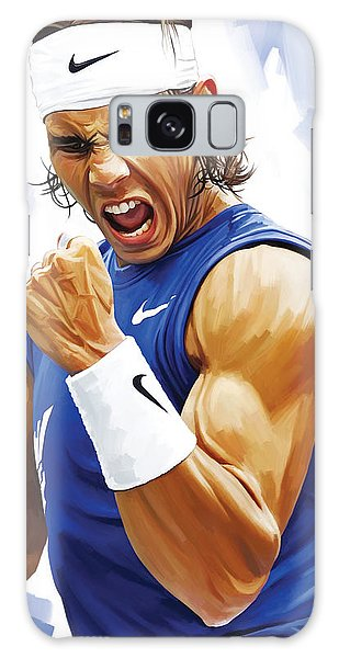 Rafael Nadal Artwork Galaxy Case by Sheraz A
