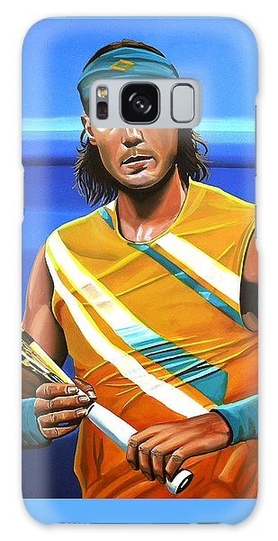 Rafael Nadal Galaxy Case by Paul Meijering