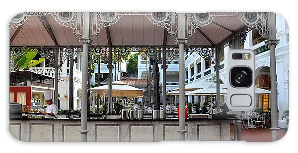 Raffles Hotel Courtyard Bar And Restaurant Singapore Galaxy Case