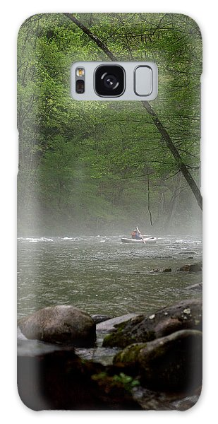Rafting Misty River Galaxy Case