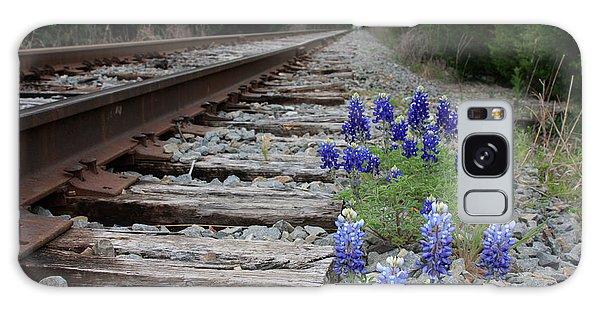 Railroad Bluebonnets Galaxy Case