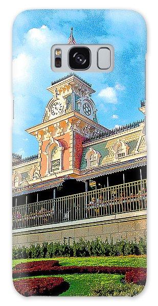 Railroad Station Magic Kingdom Walt Disney World Galaxy Case by A Gurmankin