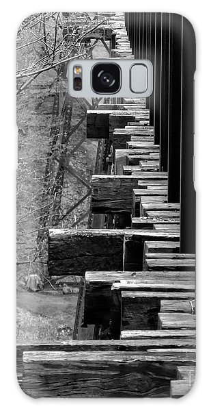 Galaxy Case featuring the photograph Railroad Ties On Trestle Bridge by Kristen Fox