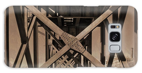 Railroad Trestle Sepia Galaxy Case