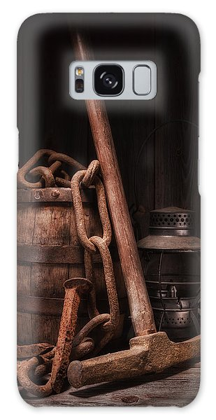 Rusty Chain Galaxy Case - Railway Still Life by Tom Mc Nemar