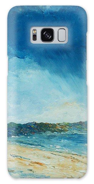 Rain A Comin Galaxy Case by Conor Murphy