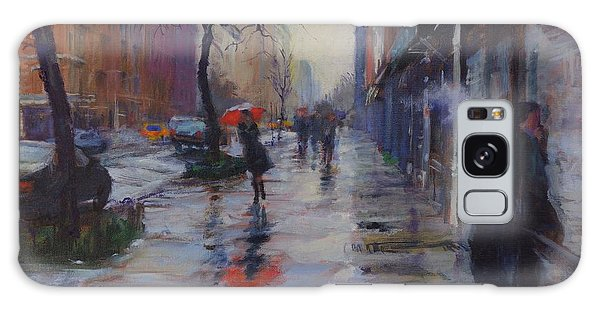 Rain And Smoke On Amsterdam Avenue Galaxy Case