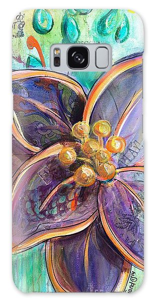 Galaxy Case featuring the painting Rain Dance by TM Gand