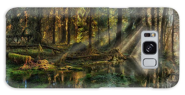Rain Forest Sunbeams Galaxy Case