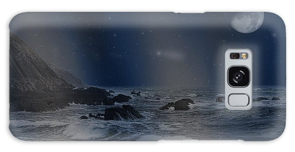 Rain Of Stars On The Sea  Galaxy Case by Angel Jesus De la Fuente