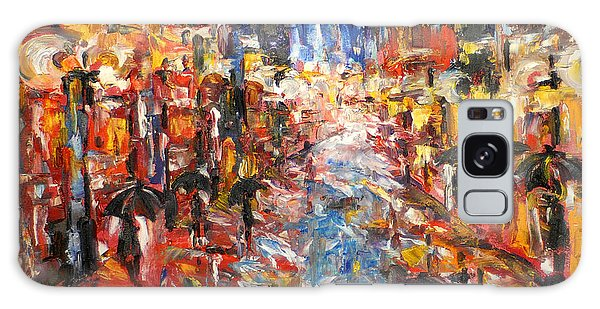 Rain On 5th Ave Galaxy Case by Helen Kagan