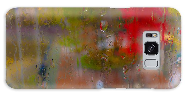 Rain On Glass Galaxy Case by Susan Stone