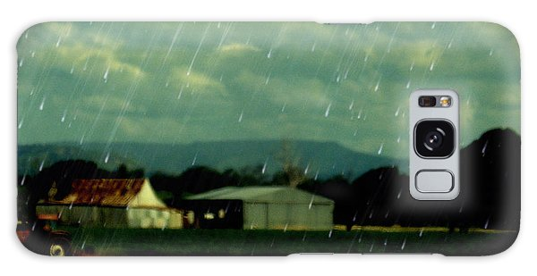 Rain Over Grantham Galaxy Case by Therese Alcorn