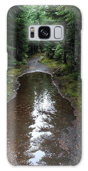 Rain Puddle - Cheakamus Forest Galaxy Case by Amanda Holmes Tzafrir
