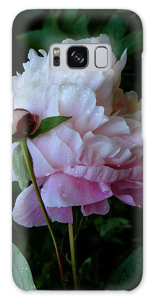 Rain-soaked Peonies Galaxy Case