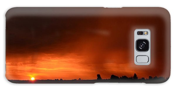 Rain Squall Sunrise Galaxy Case
