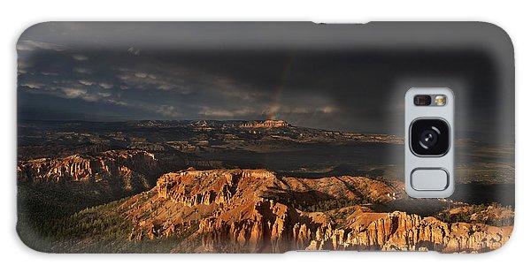 Rainbow And Thunderstorm Over The Paunsaugunt Plateau  Galaxy Case