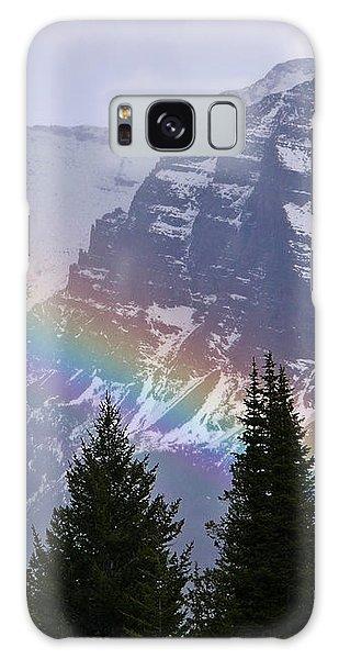 Rainbow At Glacier National Park Galaxy Case