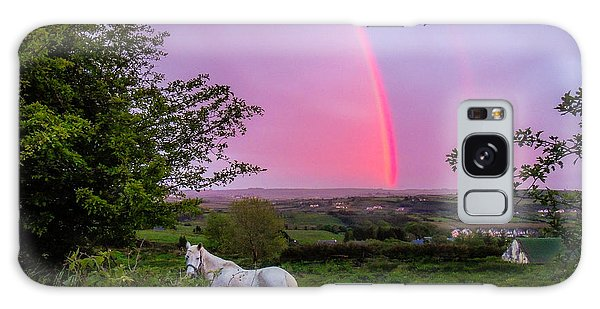 Rainbow At Sunset In County Clare Galaxy Case