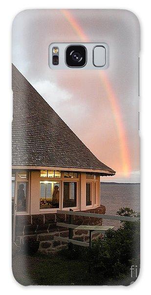Rainbow At The Bath House Minister Island Nb Galaxy Case